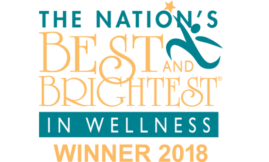 Nation's best and brightest in wellness award